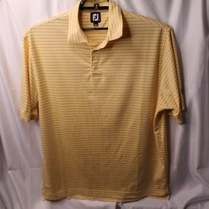 Footjoy FJ Mens L Yellow Stripe Bonita Bay Club FL